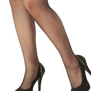28c6ada9c7f Coquette Accessories - Lace Top Black Fishnet Thigh Highs - OS XL  NWT